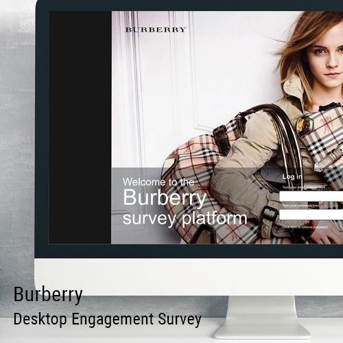 Burberry HR Engagement survey system