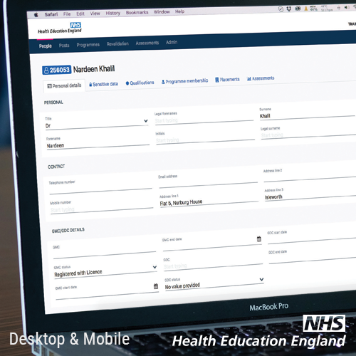 NHS Health Education England: Trainee Information System